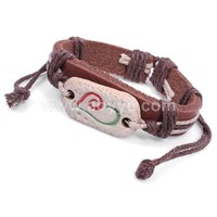 National wind fashion painted pottery heart-shaped bracelet