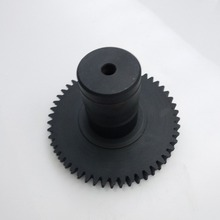 TS 16949 Certified Top quality shaft spur gear custom black anodizing steel spur gear