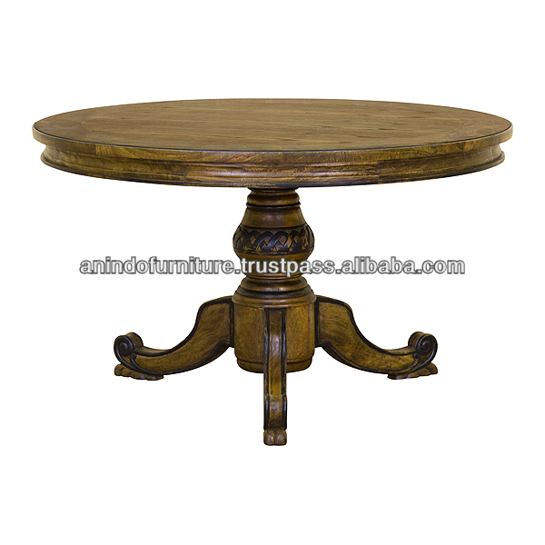 Mango Wood Round Dining Table