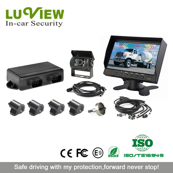 "Visible Parking Sensors with 7"" Car Stand-alone Monitor Car Backup Camera System"
