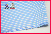 CVC cotton/ployester striped fabric 45*45 organic cotton