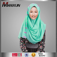 Tudung for Muslim Women Wear Beading Tundung Malaysia Islamic Women Fashion Hijab