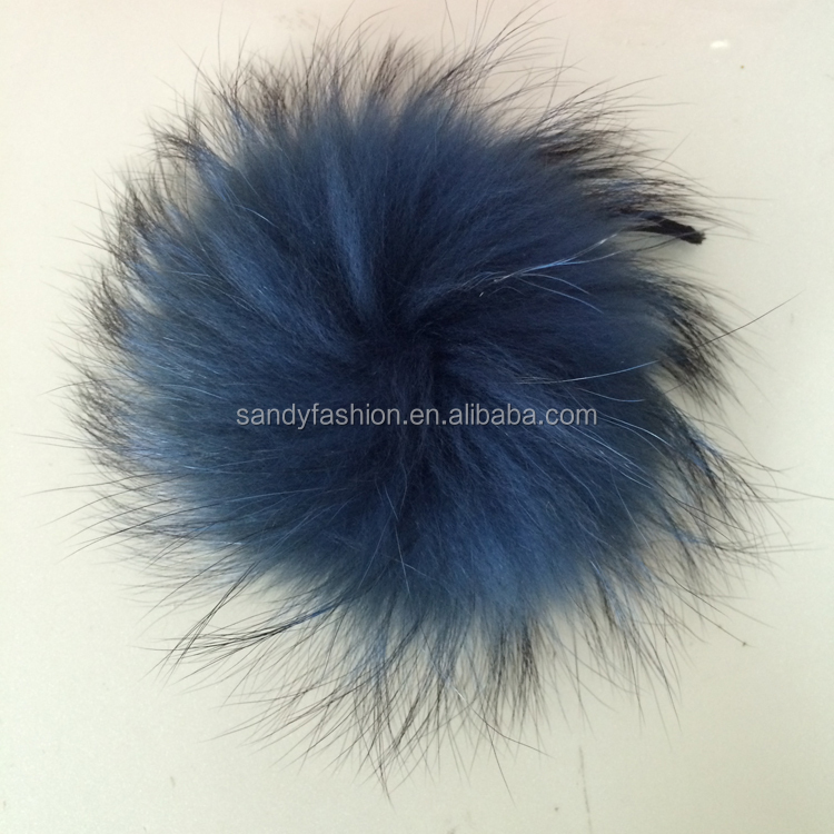Hot new products for 2014 tongxiang jiaxing genuine raccoon dog wholesale pom pom fur balls