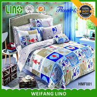 printing cotton ribbon embroidery bedding set/grid bed sheet/baby crib quilt size