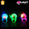 Bar DJ Rave Toys Light Up Elastic Rubber Blinking Flashing LED Strawberry Finger Ring for Prom Party Christmas Gift