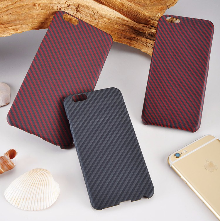 Best quality! 3k Twill glossy/matt Red Black real Kevlar carbon fiber phone case