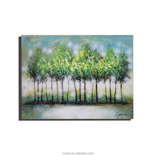 Textured Abstract Modern Tree Acrylic Painting on Canvas
