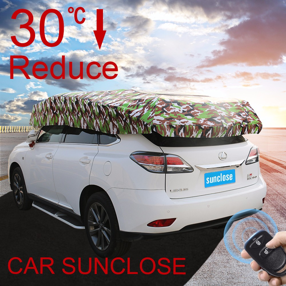 SUNCLOSE heated classical peva car cover vertical car parking system motorcycle tire covers