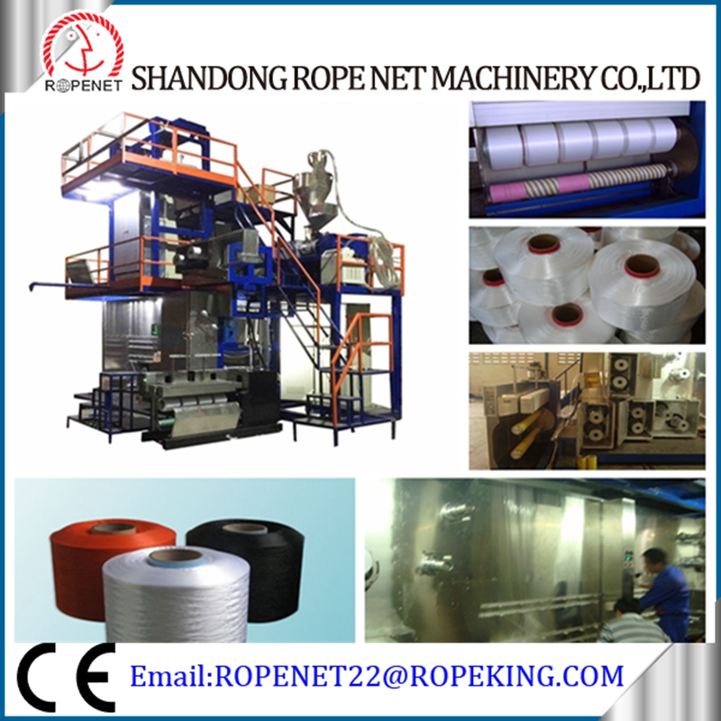 PP FDY auto winder fdy pp multifilament yarn spinning machine/ intermingling pp fiber textile fdy machine