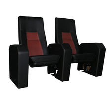 3D swing back or fixed back theater chair cinema seating with cup-holder