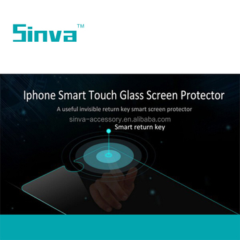 Top brand Sinva smart key tempered glass screen protector for ip 6/6p , added a return key on the screen protector
