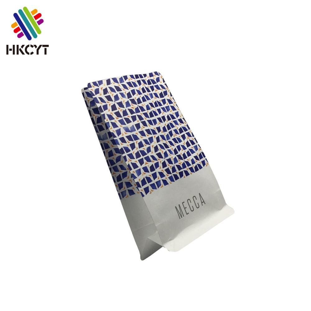 Recycled food grade stand up food pouch with zipper coffee packaging bags with valve