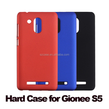 Fashion soft feel rubber oil grind hard pc cell phone back cover case for gionee s5