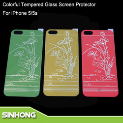 Mobile Cell Phone Use For iPhone 5 Color Tempered Glass Screen Protector