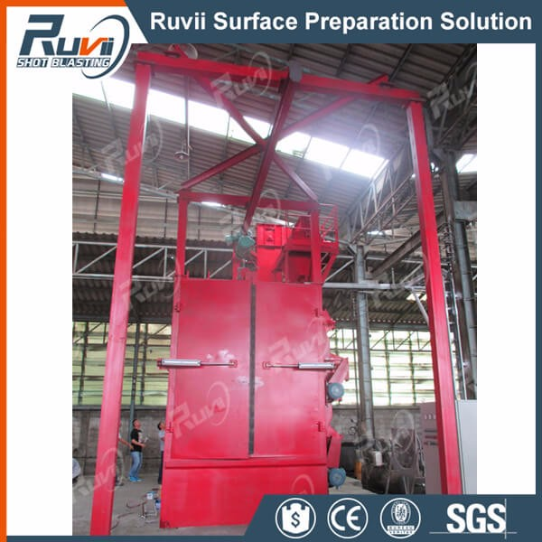 RV37 Gas Cylinder Hoist Tye Shot Blasting Machine
