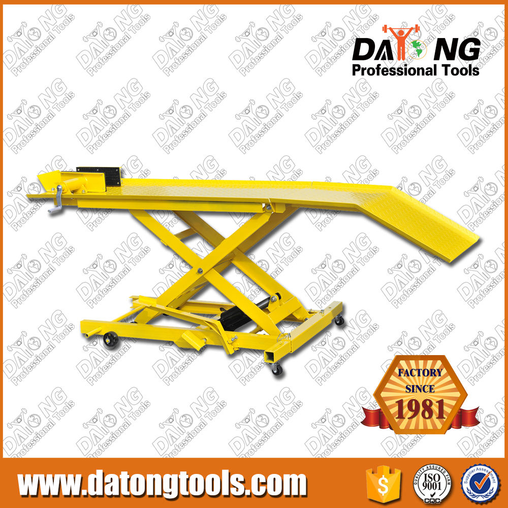 high quality hydraulic 800lbs motorcycle lift table
