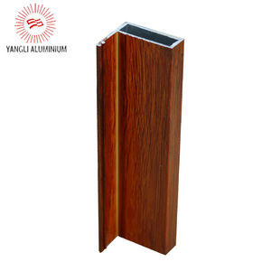 Wooden color extruded profile for aluminum handrail