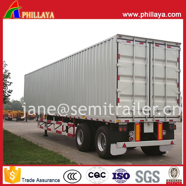 Commercial Vehicle Truck Trailer Van Dry Bulk Cargo Transport Enclosed Box Semi-Trailer