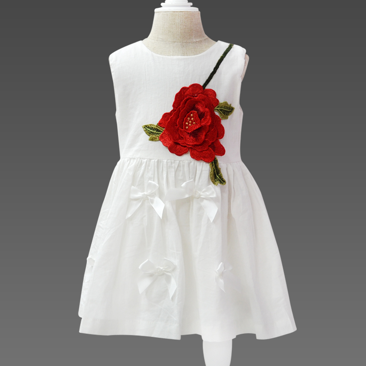 Wholesale Kids Beautiful Model Little Girl Dresses Cute Baby Flower Girl Dresses