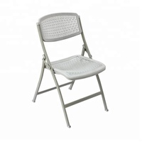 Hot sales mesh steel plastic folding chair