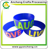 custom design lucky silicone band bracelet for promotion
