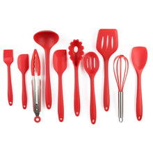 hot sale 10 pieces silicone kitchen utensil set/silicone cooking set