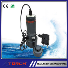 26650 Rechargeable Battery 1000 Lumen Led Diving Torch With USB Cord