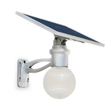 Water Resistant Outdoor LED Solar Lamp Post Luna Reflex 12W/5V Street Light With Remote Control
