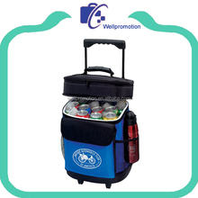 Fashionable factory standing cooler bag with wheels