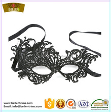Cheap black lace mask for funny masquerade party mask