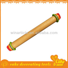 16.5-Inch Multi-Color Adjustable Wood Rolling Pin