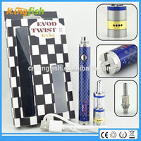 New starter kit 1.5ohm atomizer evod twist 3 m16 alter ego e cigs with factory price