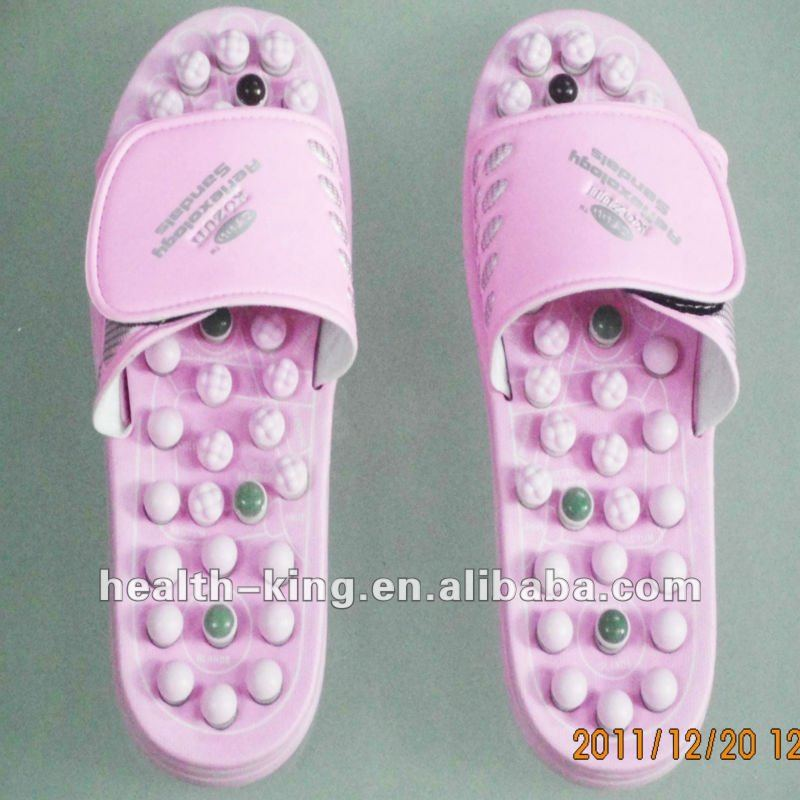 Hotselling Tourmaline massage slipper foot care Jade stone massage slipper