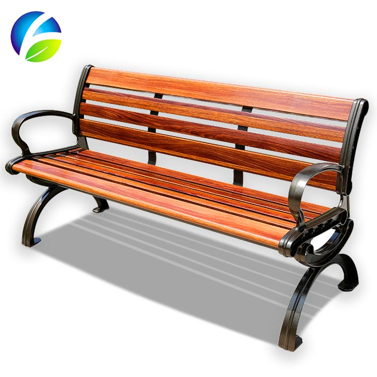 Modern Outdoor Furniture Plastic Park Bench Slats Waiting Chairs