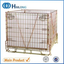 Folded zinc wire mesh metal container with PP hollow sheet