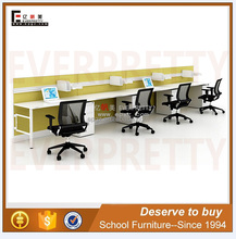 Fashion Office Furniture Desk, 4 Seat Office Workstation Cubicle With Drawer