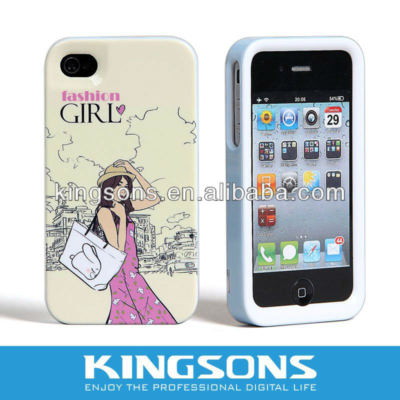 For Fashion Girl IPHONE5 Case, Various Of Colors Available