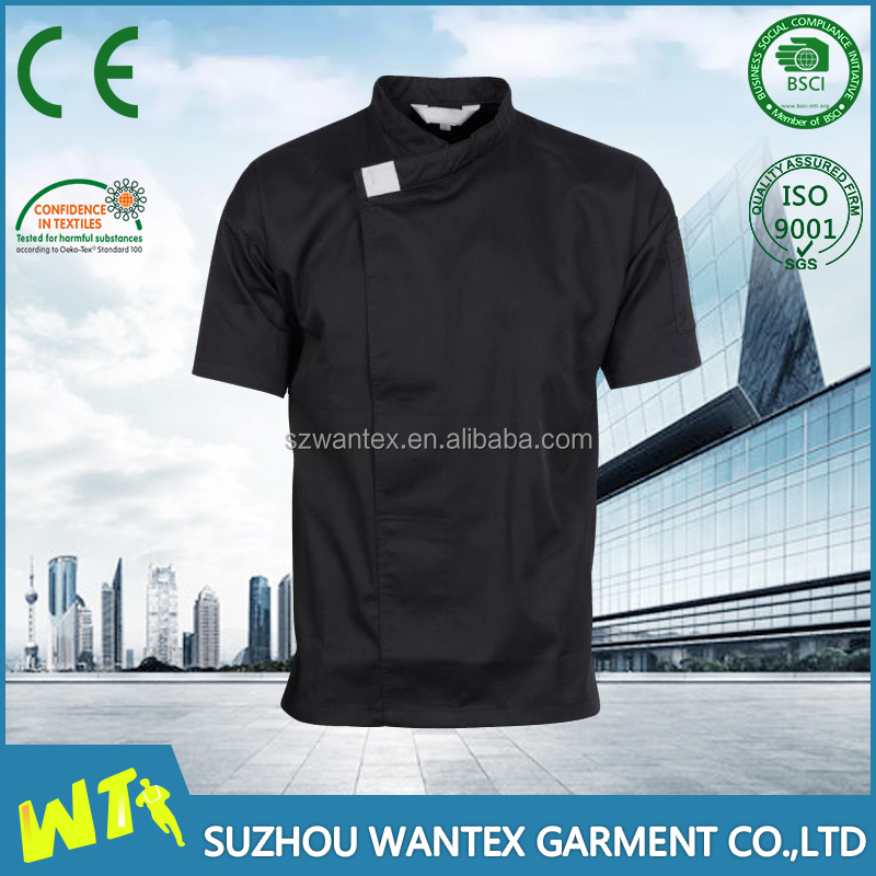 hot sale chef uniform short sleeve stylish cook clothing for men