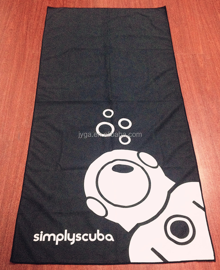 microfiber double side suede printed quick dry sports swimming beach towel