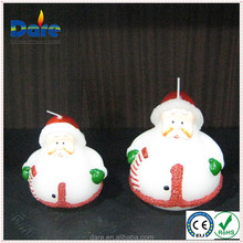 Wireless Christmas decoration with Santa Claus candle