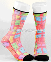 Bright colorful customized grip socks summer leisure socks