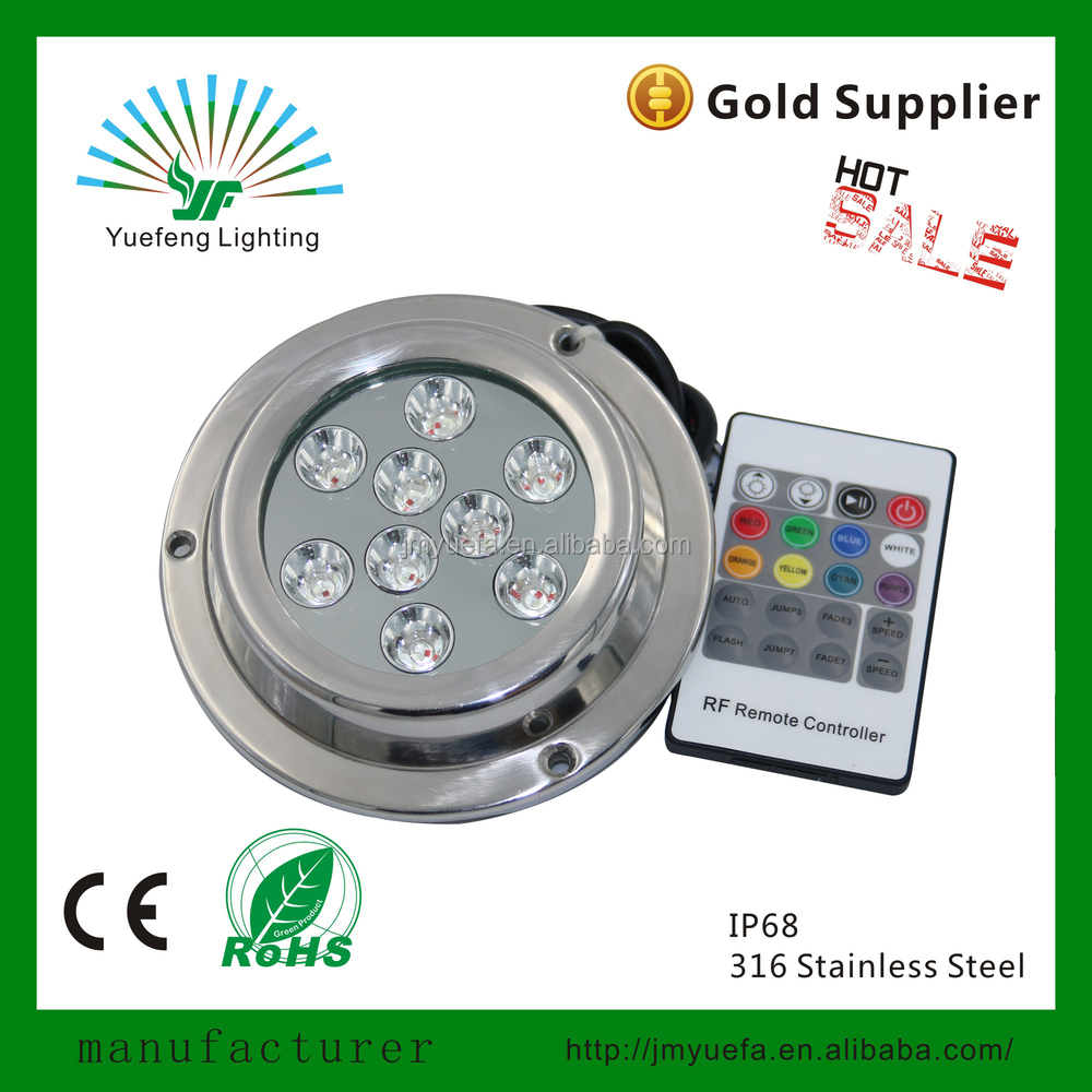 rgb multi color IP68 316 stainless steel 45w underwater led boat light yacht lamp YF-UD119-45RGB