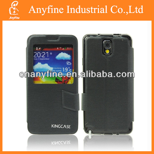 stand leather case with sleep function for Samsung Note 3 N9100