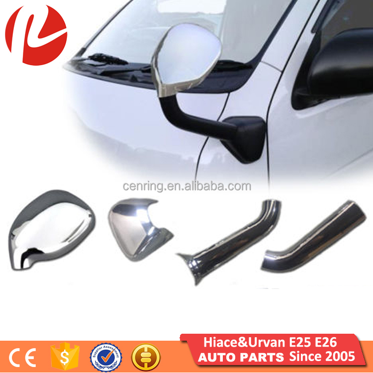 Front Side Wing Fender forehead Mirror Chrome Plated Cover for Japan Hiace mini bus van KDH 200 2005-2020