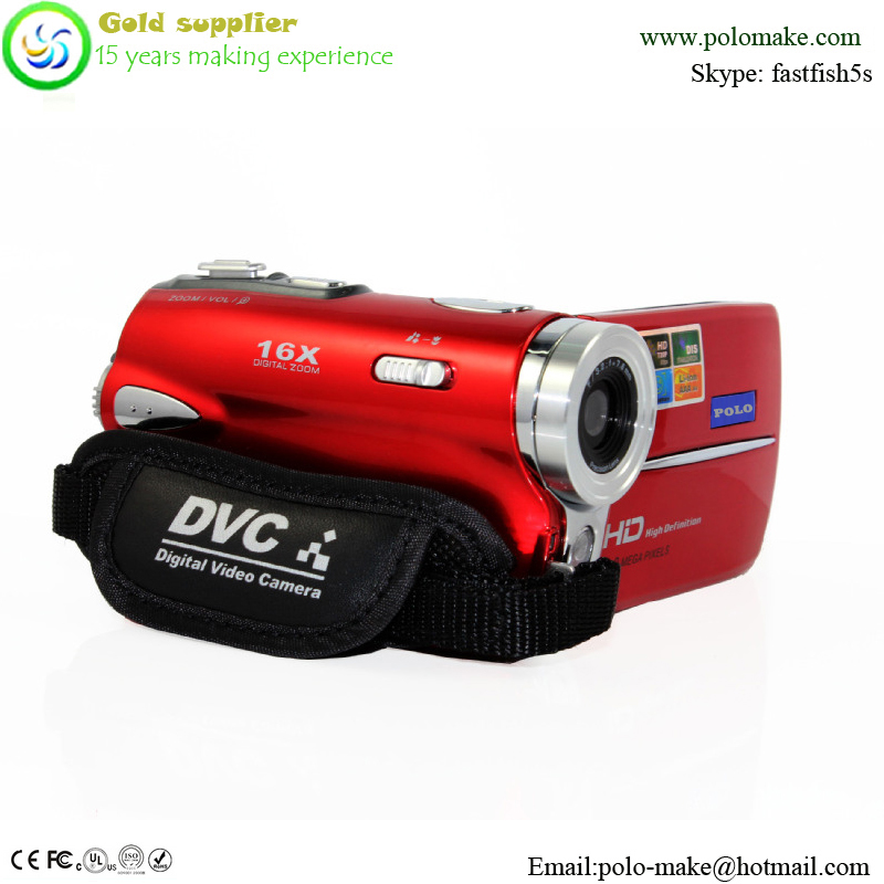 3.0 inches TFT-LCD liquid crystal display professional digital camcorder , 16X optical zoom HD DVC digital camcorder