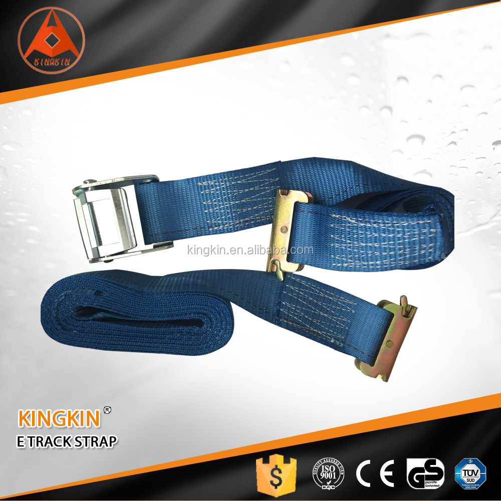 "2"" *10' van trailer ratchet strap blue cam lock E track ratchet strap logistic strap"