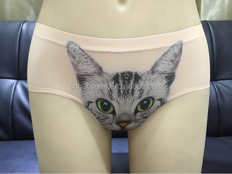 new fashion woman underwear , sexy lovely cat 3D Print designer