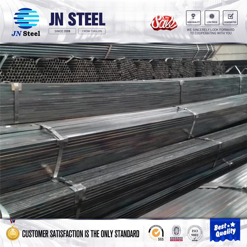 zinc coated steel pipes q235 steel chemical composition erw ms pipes