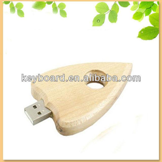 bulk cheap bamboo usb flash drive with heart shape