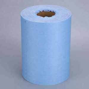 Disposable spunlaced nonwoven industrial wiping paper roll